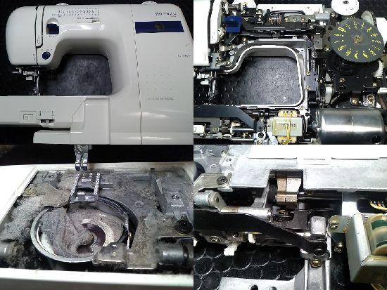 ジャノメミシン修理分解画像モナーゼE4000