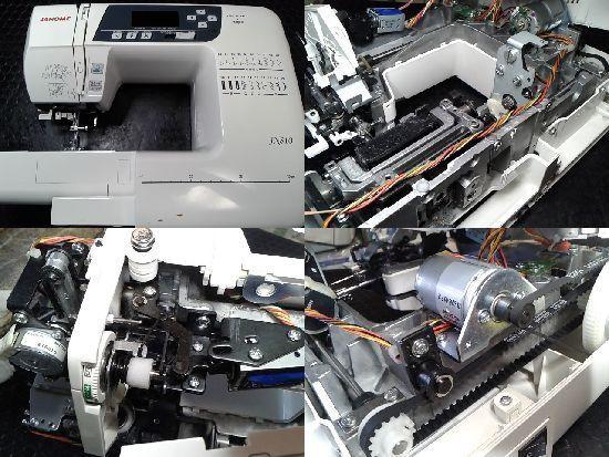 ジャノメJN810のミシン修理画像