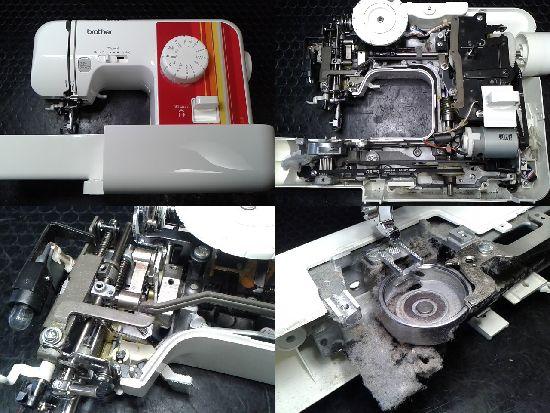ブラザーEL117のミシン修理分解画像