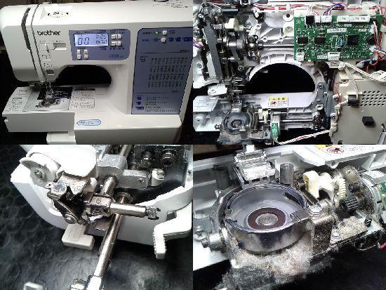 ブラザーSENSIA400(CPE0002)のミシン修理分解画像