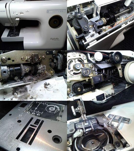 ジャノメLafailia5550DXのミシン修理分解画像