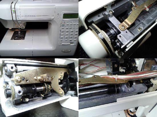 ジャノメS7702のミシン修理分解画像