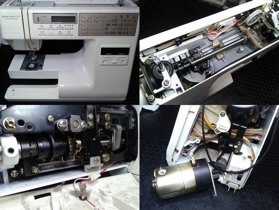 ジャノメセンサークラフト7501のミシン修理分解画像