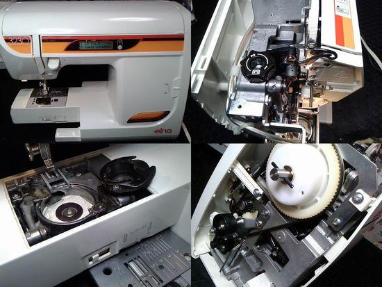 ジャノメelna3230のミシン修理分解画像