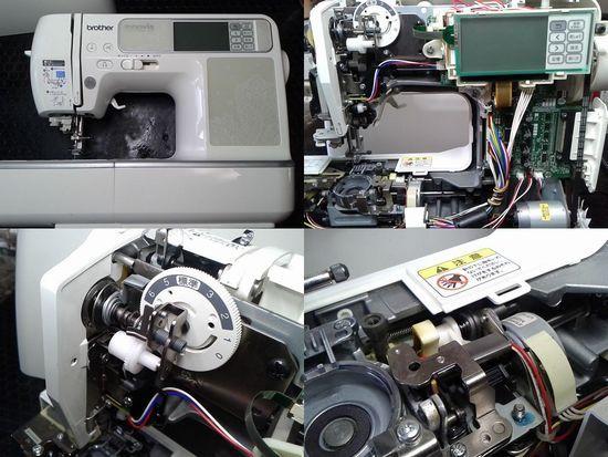 ブラザーCR1000(EMV41)のミシン修理分解画像