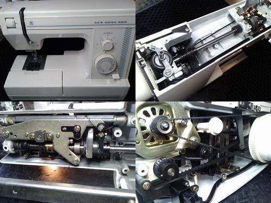 ジャノメニューホーム686のミシン修理分解画像