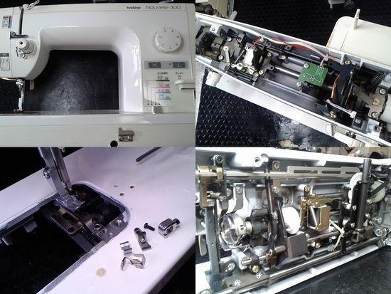 ブラザーヌーベル400のミシン修理分解画像