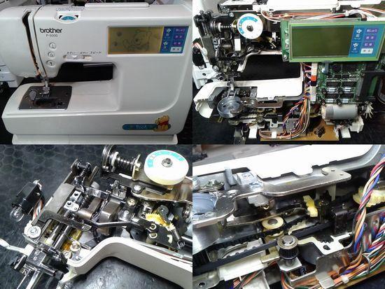 ブラザーP-5000のミシン修理分解画像