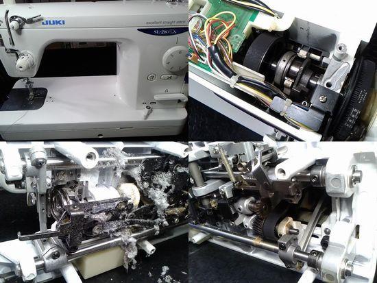 JUKI SL-280EXのミシン修理分解画像