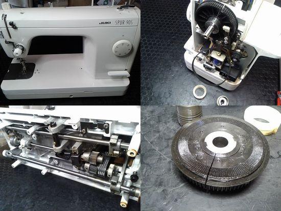 JUKIシュプール90Sのミシン修理分解画像