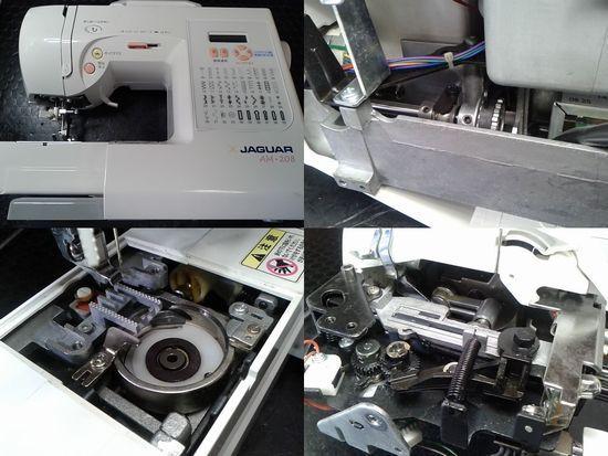 ジャガーミシンAM-208のミシン修理分解画像