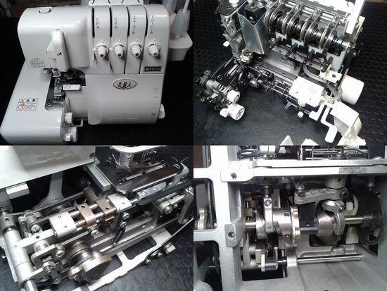 ベビーロック衣縫人BL57EXSのミシン修理分解画像