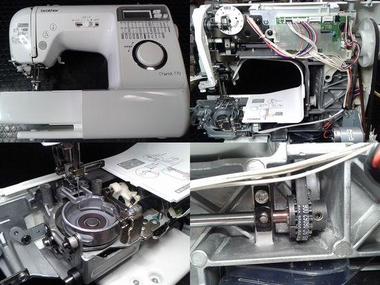 ブラザーCPV0501のミシン修理分解画像