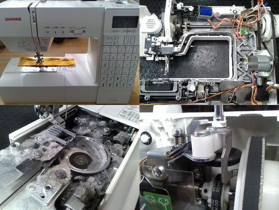 ジャノメDC6030のミシン修理分解画像