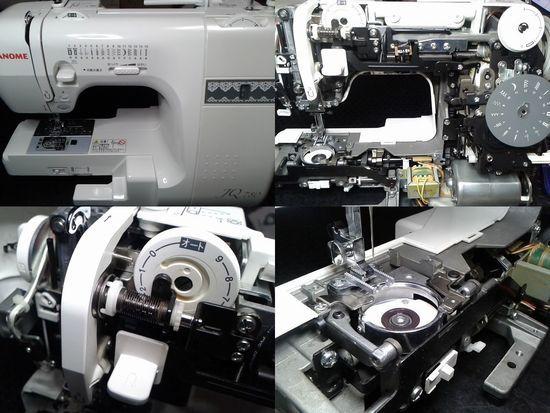 ジャノメJQ780のミシン修理分解画像