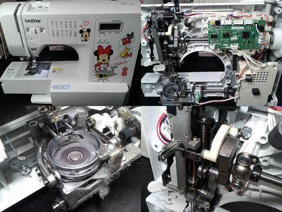 ブラザーミシン修理分解画像CPV7205