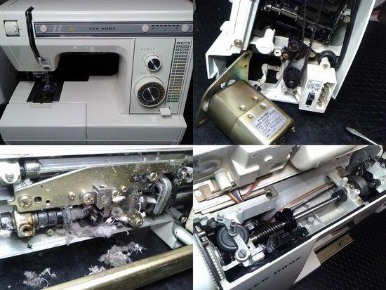 ジャノメニューホーム3200のミシン修理分解画像