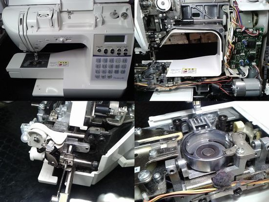 ブラザーCPS7601のミシン修理分解画像