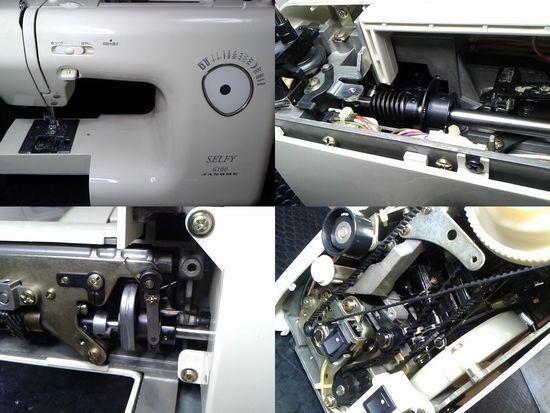 ジャノメミシン修理分解画像SELFY6100