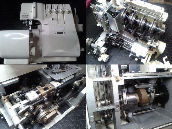 ベビーロック衣縫人BL552のミシン修理分解画像