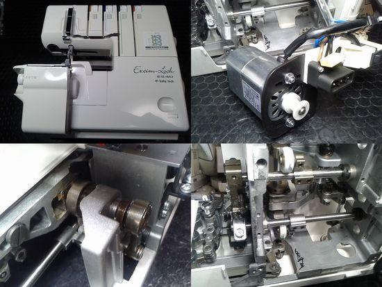 ジューキベビーロックエクシムロックES4Dのミシン修理分解画像