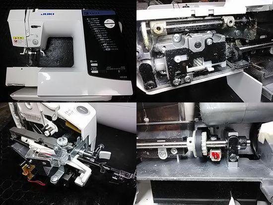 JUKIカロスHZL-K10のミシン修理分解画像