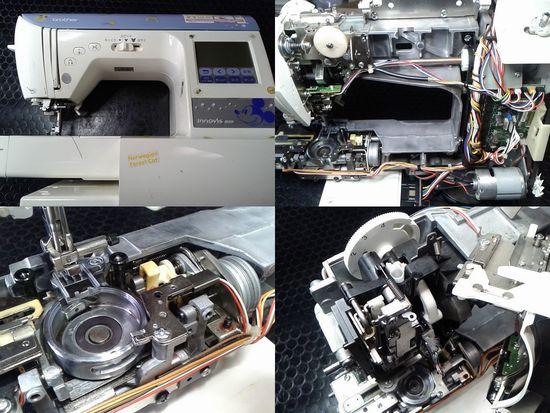ブラザーイノヴィスM200のミシン修理分解画像