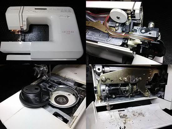 ジャノメLECHERE C410のミシン修理分解画像