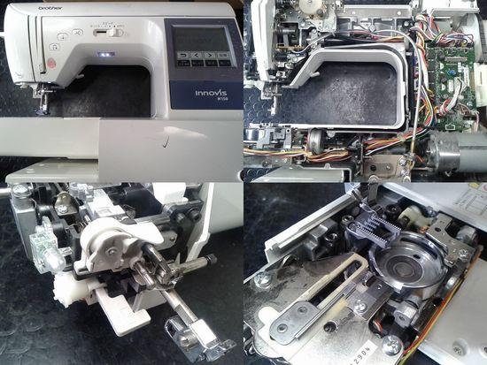 ブラザーイノヴィスN150のミシン修理分解画像