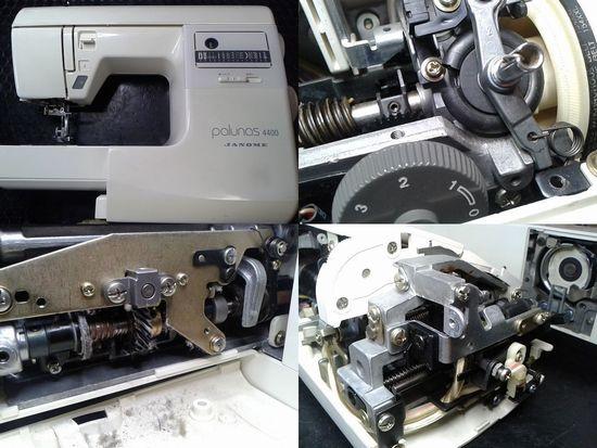 ジャノメパルナス4400のミシン修理分解画像