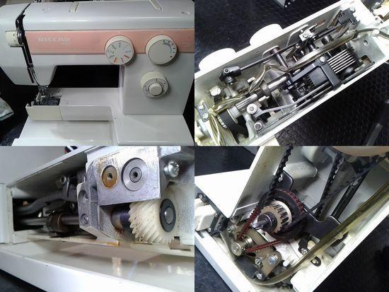 リッカーミシンR-4500のミシン修理分解画像