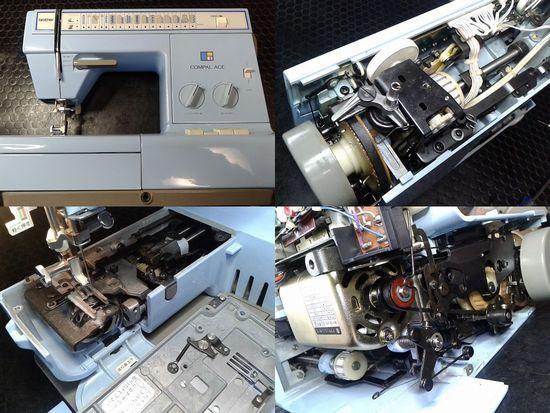 ブラザーコンパルエースのミシン修理分解画像