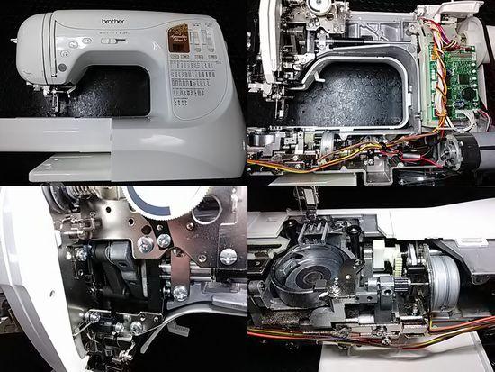 ブラザーアニュウドールブラン4のミシン修理分解画像