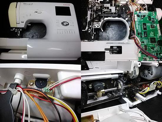 シンガーミシン修理分解画像ブーケ9700スーパーDX修理の件