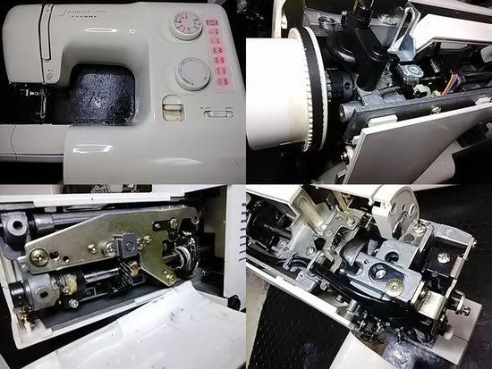 ジャノメミシン修理分解画像Jasmine3550