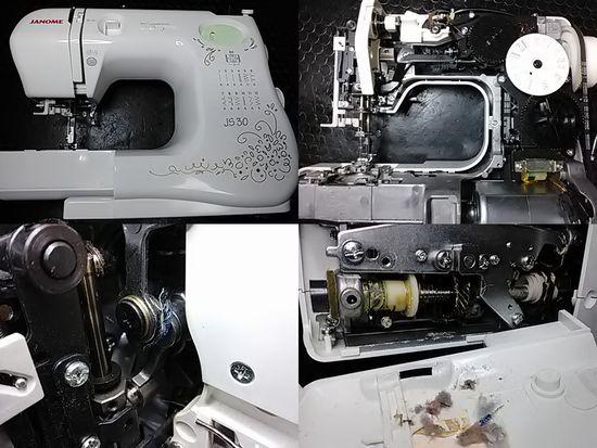 ジャノメJS30のミシン修理分解画像