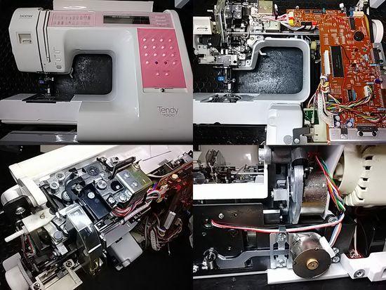 ブラザーテンディ7000のミシン修理分解画像