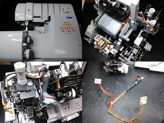 ベビーロック糸取物語BL69WJのミシン修理分解画像