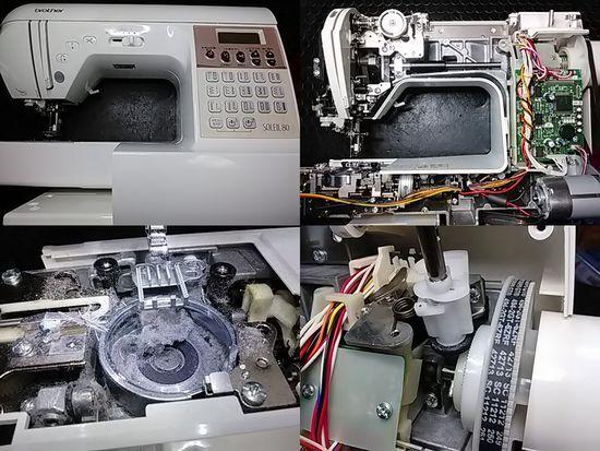 ブラザーソレイユ80のミシン修理分解画像