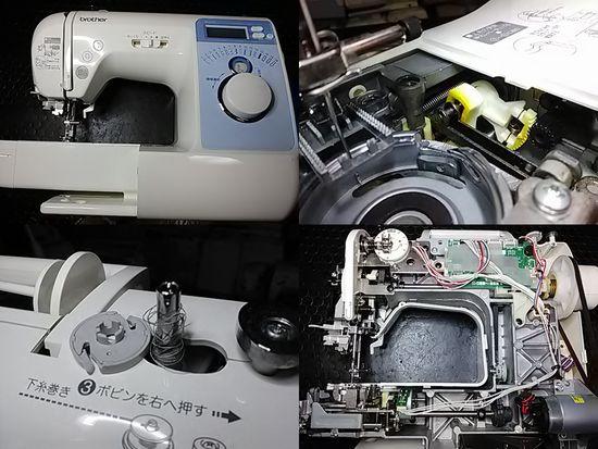 ブラザーB-500(CPV03)のミシン修理分解画像
