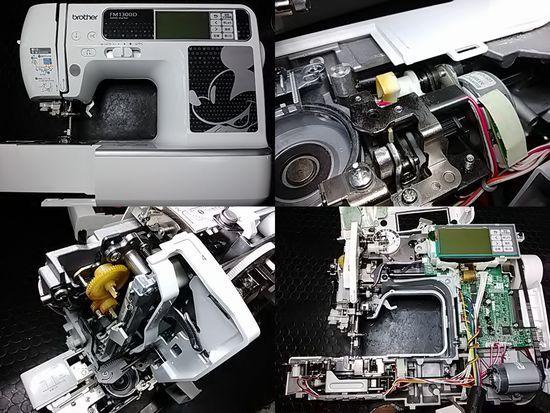 ブラザーFM1300Dのミシン修理分解画像