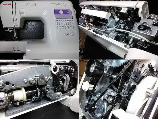 ジャノメミシン修理分解画像770S