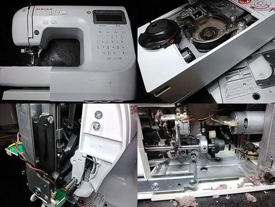 シンガーミシンSP-01Nのミシン修理分解画像