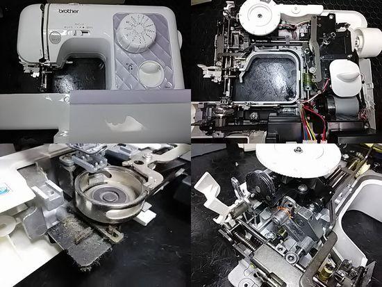 ブラザーELU54のミシン修理分解画像
