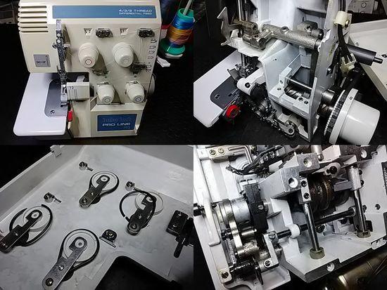 ベビーロックBL4-738DFのミシン修理分解画像