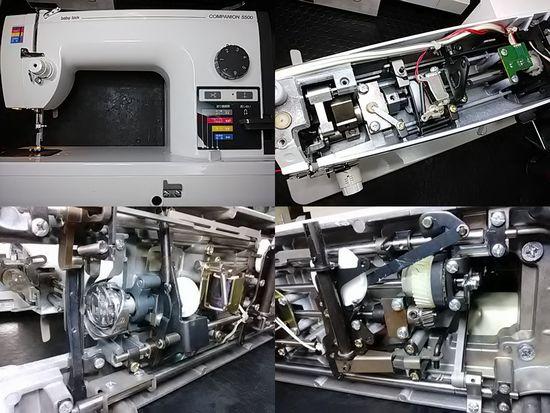 ベビーロックコンパニオン5500のミシン修理分解画像