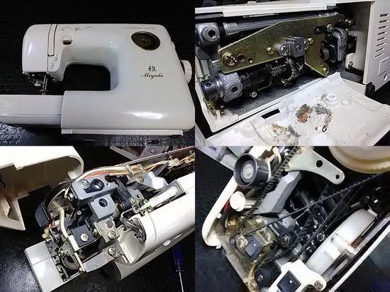 ジャノメ雅MR5400のミシン修理分解画像