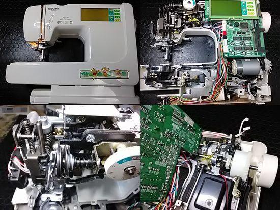 ブラザーP-5500のミシン修理分解画像