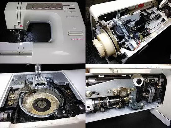 ジャノメプレール924のミシン修理分解画像