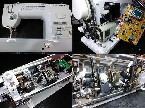 ブラザーTA637のミシン修理分解画像